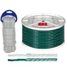 Bobina cuerda plast.forra.05mm/100mt bla de rombull ronets