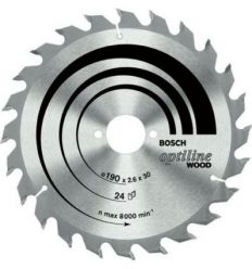 Disco sierra p/gks-90 190x30 16 dientes de bosch construccion /