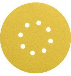 Lija disco 8 per.c/vel.125mm g080 bl 50 de bosch construccion /