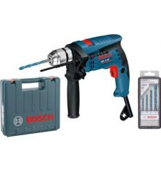 Taladro percutor gsb13re 600w 13mm+m+ac de bosch construccion /