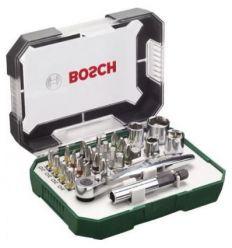 Set atornillar 26 piezas c/carraca de bosch bricolaje