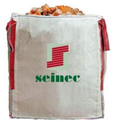 Saco big bag 90x90x100 1250kg blanco de seinec