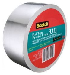 Cinta aluminio scotch 331150 45mx50mm de 3m