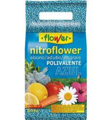 Abono poli.nitroflower 10528 750gr azul de flower caja de 20