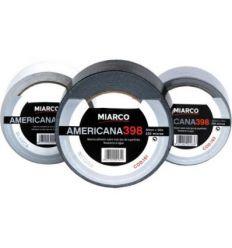 Cinta americana 398-50mmx10m negro de miarco caja de 6 unidades