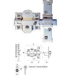 Cerrojo 01111 301-r/80 50mm niquel de fac