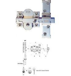 Cerrojo 01100 301-rp/80 50mm niquel comp de fac