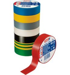 Cinta aislante 53948-20mx19mm azul de tesa-tape caja de 10