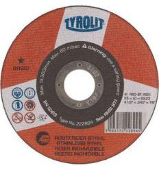Disco 41c a60-bf a.inox 115x1x22,2 basic de tyrolit caja de 25