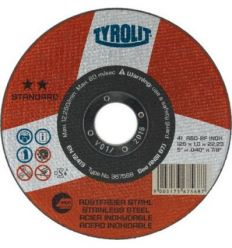 Disco 41x a60-bf a.inox 115x1x22,2 stand de tyrolit caja de 25