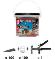 Kit delta levell.system 2865 3-12mm 2mm de rubi