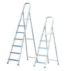 Escalera domestica aluminio reforzada 5-peldaños en-1 de marca