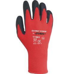 Guante nylon/nitrilo foam h111801 talla-09 negro de juba caja de 10 unidades