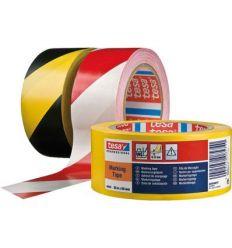 Cinta señalización 60760-33mx50mm roja/blanca de tesa-tape caja de 6 unidades