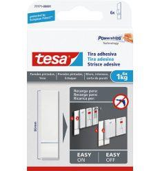 Tira adhesivo 77771 sms pared pintada sujección 1,0kg de tesa-tape caja de 15 unidades