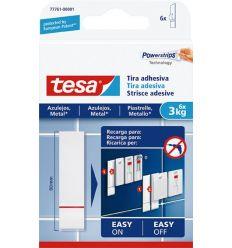 Tira adhesivo 77761 sms azulejos sujección 3,0kg de tesa-tape caja de 15 unidades