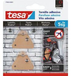 Tornillo adhesivo triangular 77904 sms piedra sujección 5kg de tesa-tape caja de 6 unidades