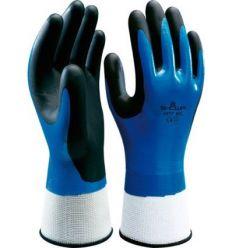 Guante nitrilo showa 377 talla-07 azul de starter caja de 10 unidades