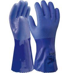 Guante pvc showa 660 talla-10 azul de starter caja de 10 unidades