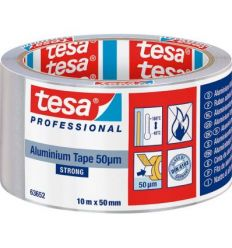 Cinta adhesiva 50565-25x50 aluminio con protector de tesa-tape