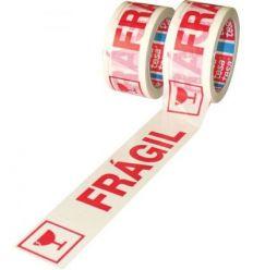 Cinta precinto fragil 60089-66mx50mm blanco de tesa-tape caja de 6 unidades
