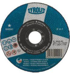 Disco 42c a30-bf 230x3x22,2 basic de tyrolit caja de 25 unidades