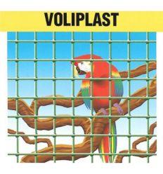 Malla electrosoldada plastificada voliplast 13x13x1,2 25x1,50m de frigerio
