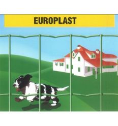 Malla electrosoldada plastificada europlast100x50 25x0,60m de frigerio