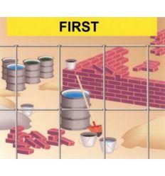 Malla electrosoldada galvanizada first 25x25x1,7 25x1,00m de frigerio