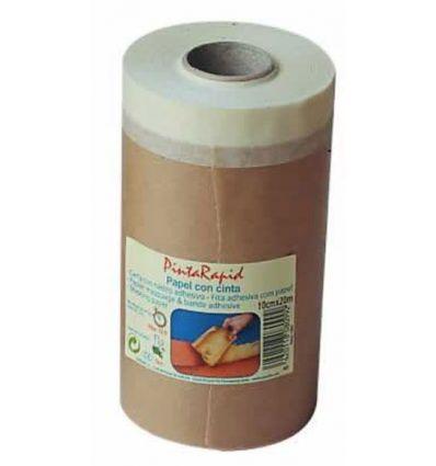 Papel con cinta pintarapid 08100 15cmx20m de pentrilo