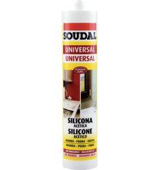 Silicona universal acida 280ml-103184 blanco de soudal caja de 12 unidades