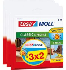 Burlete caucho perfil e 05467-6mx9mm 3x2 marrón de tesa-tape caja de 10 unidades