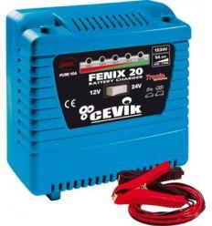 Cargador baterías fenix-20 12/24v. de cevik