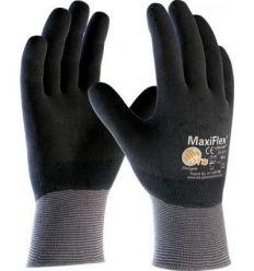 Guante maxiflex de nitrilo puños tejidos a34-876ind talla-09 de atg caja de 12 unidades