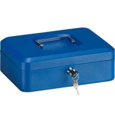 Caja caudal llave + bandeja 250x180x90 azul de arregui