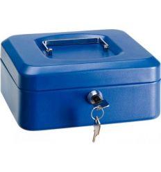 Caja caudal llave + bandeja 200x160x90 azul de arregui
