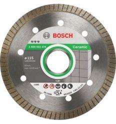 Disco diamante best ceramic 115x22,23x10 de bosch construccion / industria