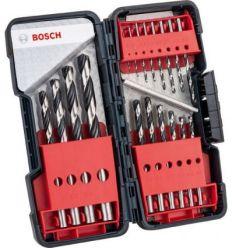 Juego brocas hss pointteq 18pz caja plastico de bosch construccion / industria