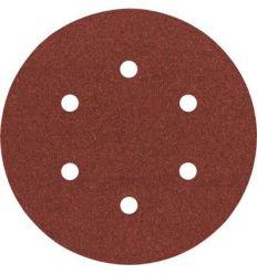 Lija disco 6 perforaciones con velcro 150mm g120 bl5 de bosch construccion / industria
