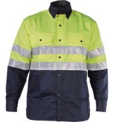 Camisa ignifuga welder hv wlh100 talla-s azul de 3l