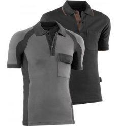Polo manga corta algodon flex 670 talla-m gris/negro de juba