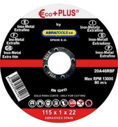 Disco inoxidable e + p 20a46rbf 115x1,0x22 de abratools caja de 5 unidades