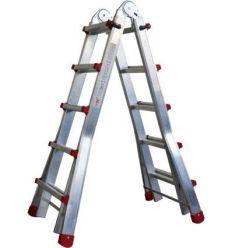 Escalera telescopica aluminio m75 3,83m-4x4 peldaños 131 de marca