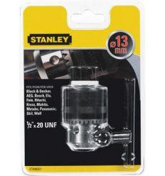 Accesorio sta66321qz portabrocas hembra 1/2x20 13 + llave de stanley
