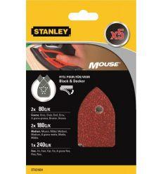 Accesorio sta31024xj 5 lijas perforada mouse g-surtido de stanley