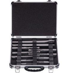 Kit 11 accesorios para martillo sds-plus maletin metal de bosch construccion / industria