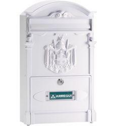 Buzon e2611 residencia aluminio blanco de arregui