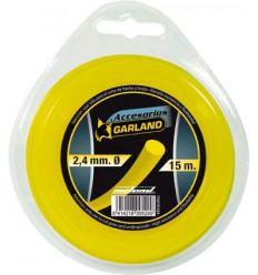 Hilo nylon redondo r1524-2,4mmx15m de garland