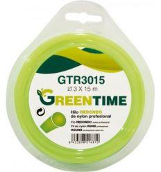 Hilo nylon redondo gtr2415 2,4mmx15m de green time