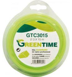 Hilo nylon cuadrado gtc3330 3,3mmx30m de green time
